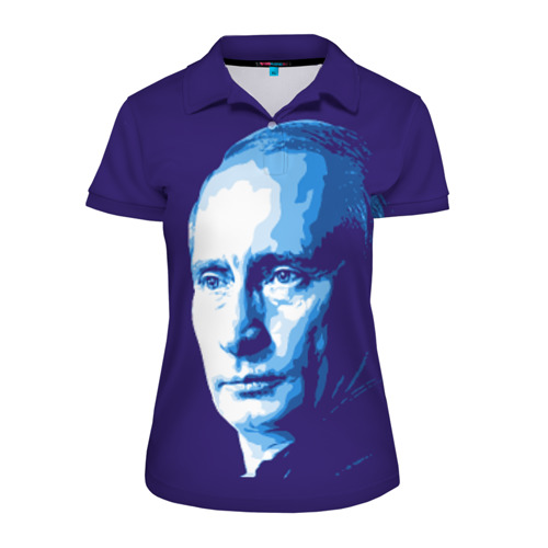 Женская рубашка поло 3D Путин Владимир Владимирович