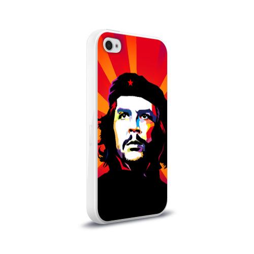 Чехол для Apple iPhone 4/4S силиконовый глянцевый  Фото 02, Че Гевара