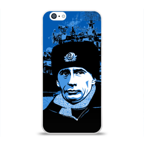 Чехол для Apple iPhone 6 силиконовый глянцевый  Фото 01, Путин главнокомандующий