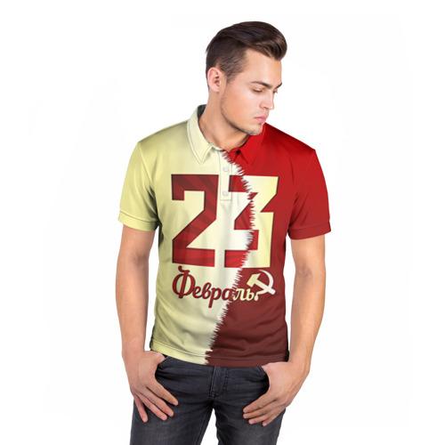 Мужская рубашка поло 3D  Фото 05, Серп и молот