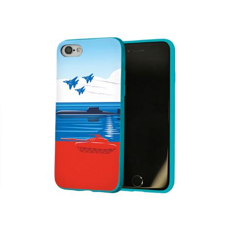 Чехол для Apple iPhone 8 силиконовый глянцевый Триколор России Фото 01