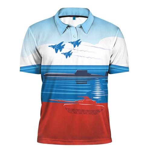 Мужская рубашка поло 3D Триколор России