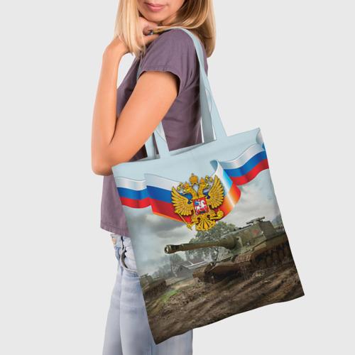 Сумка 3D повседневная Танк и символика РФ Фото 01
