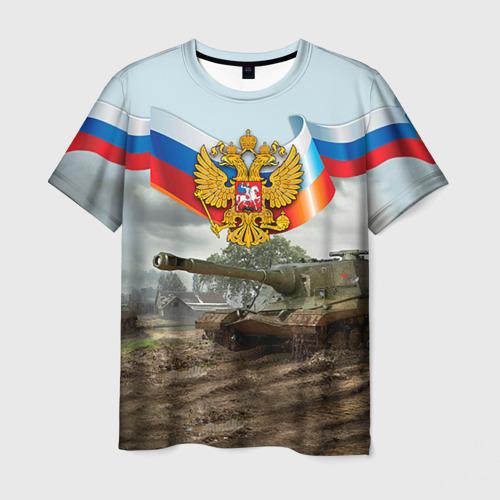 Мужская футболка 3D  Фото 03, Танк и символика РФ