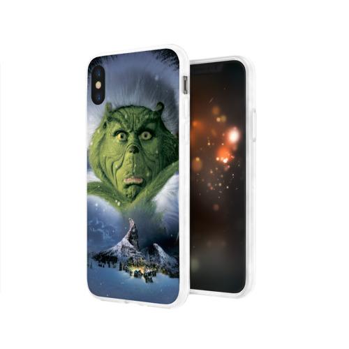 Чехол для Apple iPhone X силиконовый глянцевый  Фото 03, Гринч