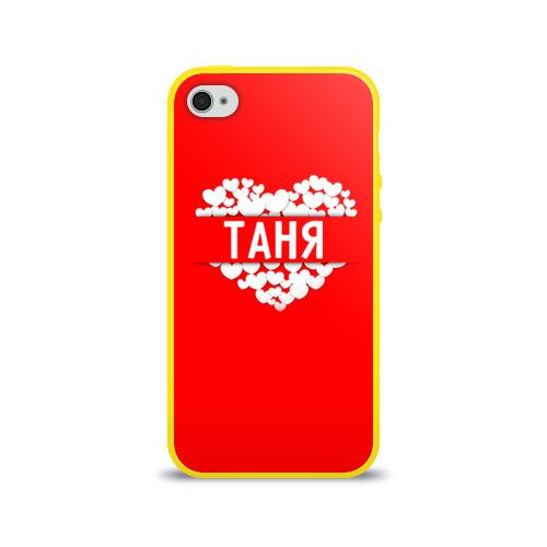 Чехол для Apple iPhone 4/4S силиконовый глянцевый Таня Фото 01
