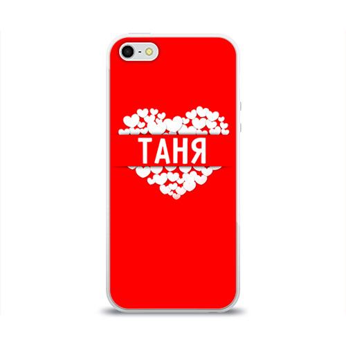 Чехол для Apple iPhone 5/5S силиконовый глянцевый Таня Фото 01