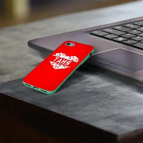 Чехол для Apple iPhone 8 силиконовый глянцевый Таня Фото 01