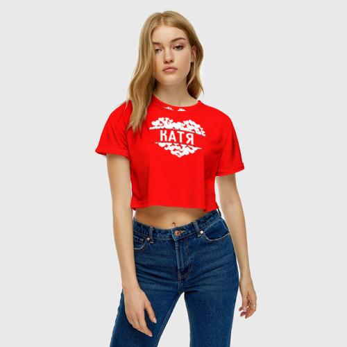Женская футболка Crop-top 3D Катя Фото 01