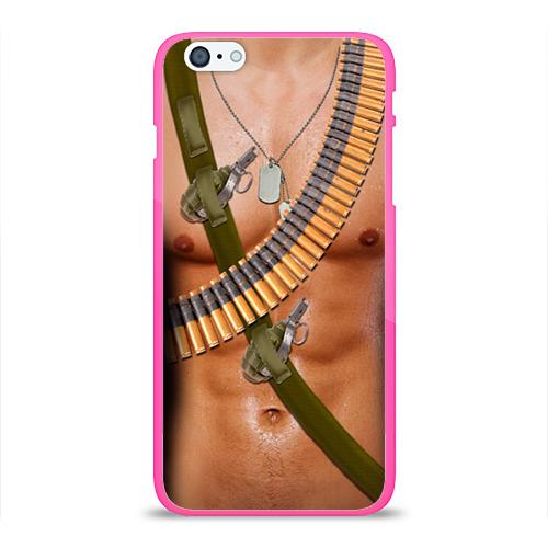 """Чехол силиконовый глянцевый для Apple iPhone 6 Plus """"Солдат"""" - 1"""