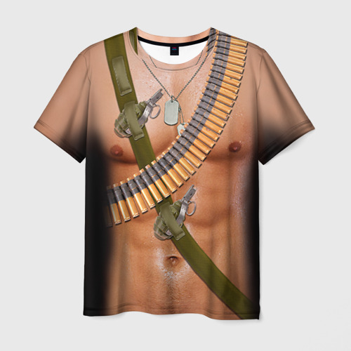 """Мужская футболка 3D с полной запечаткой """"Солдат"""" - 1"""