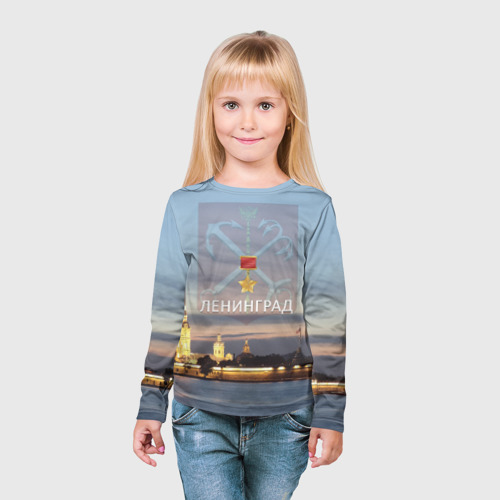 Детский лонгслив 3D  Фото 03, Город-герой Ленинград