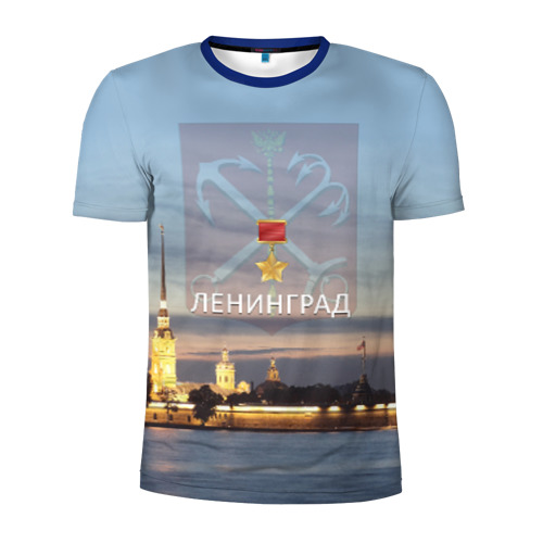 Мужская футболка 3D спортивная Город-герой Ленинград