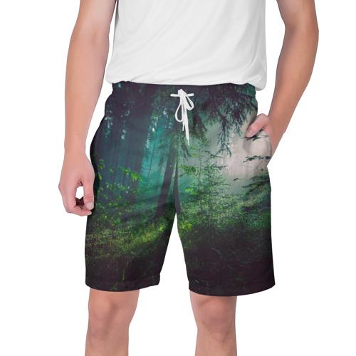 Мужские шорты 3D Таинственный лес