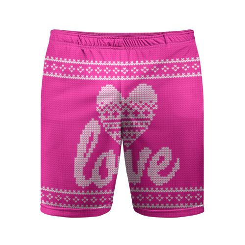 Мужские шорты 3D спортивные Love