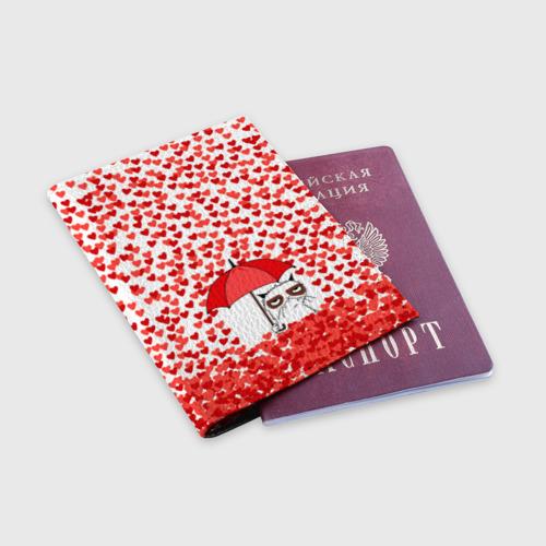 Обложка для паспорта матовая кожа  Фото 03, Сердцепад