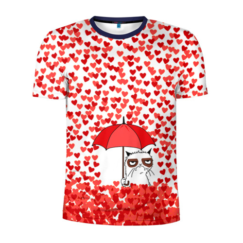 Мужская футболка 3D спортивная Сердцепад