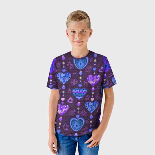 Детская футболка 3D Сердца