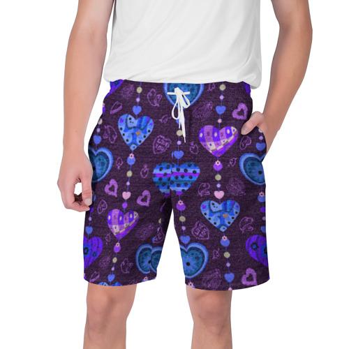 Мужские шорты 3D Сердца