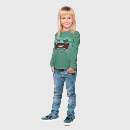 Детский лонгслив 3D  Фото 04, Пластилиновый смайл
