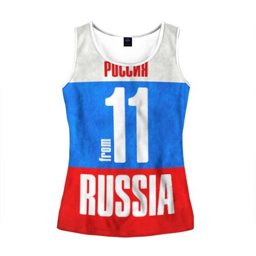 Женская майка 3D Russia (from 11)