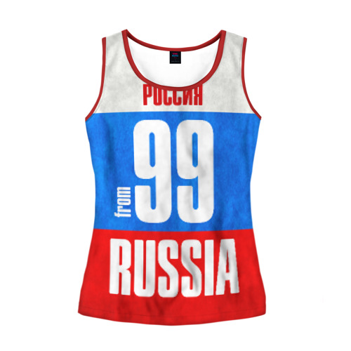 Женская майка 3D Russia (from 99)