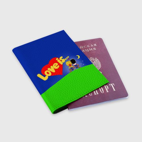 Обложка для паспорта матовая кожа  Фото 03, love is