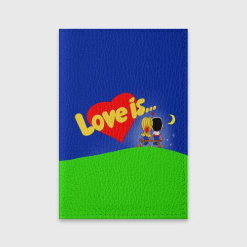 Обложка для паспорта матовая кожа  Фото 01, love is