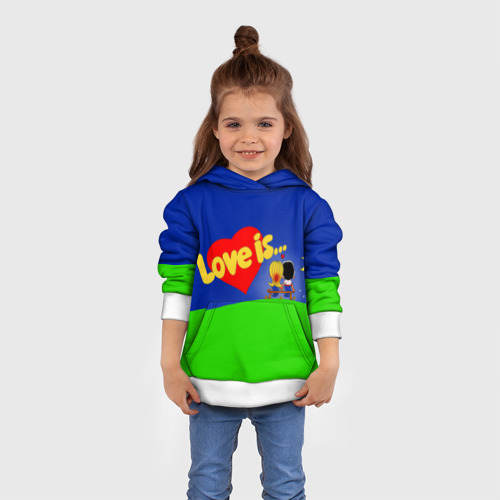 Детская толстовка 3D  Фото 01, love is