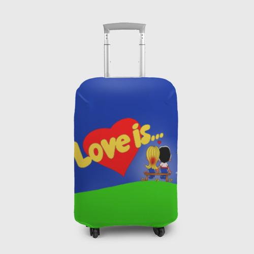 Чехол для чемодана 3D love is Фото 01