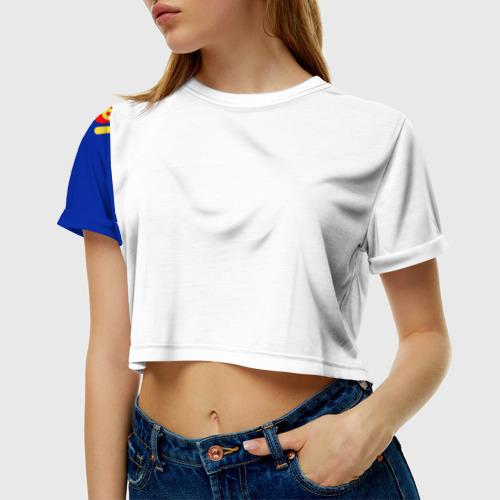 Женская футболка 3D укороченная  Фото 01, love is
