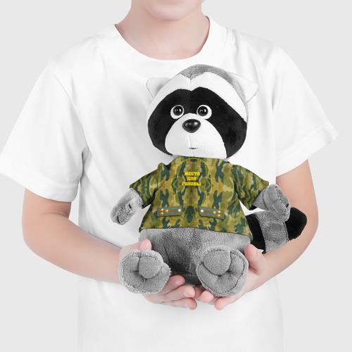 Енотик в футболке 3D Подушка военного