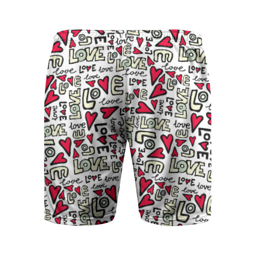 Мужские шорты 3D спортивные  Фото 02, День святого Валентина