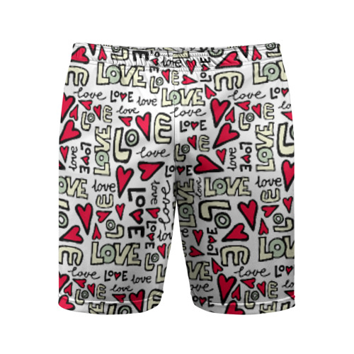 Мужские шорты 3D спортивные День святого Валентина