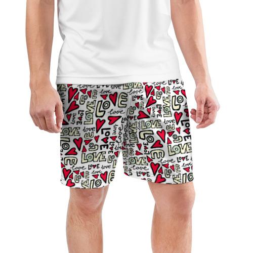 Мужские шорты 3D спортивные  Фото 03, День святого Валентина