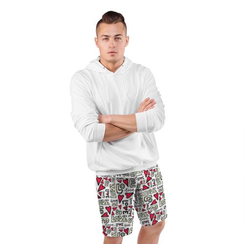 Мужские шорты 3D спортивные  Фото 05, День святого Валентина