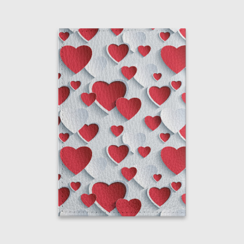 Обложка для паспорта матовая кожа  Фото 02, Сердца
