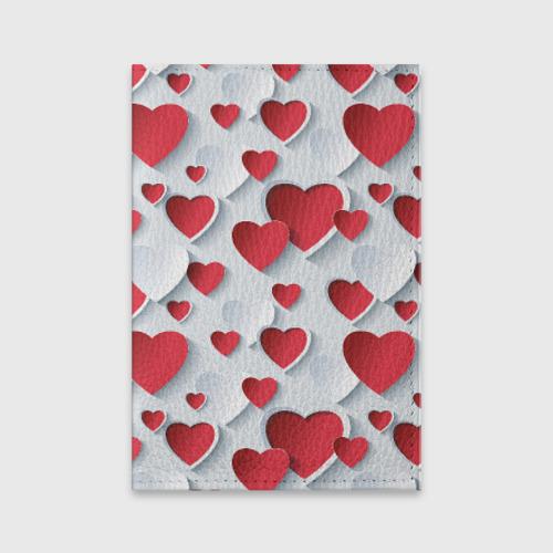 Обложка для паспорта матовая кожа  Фото 01, Сердца