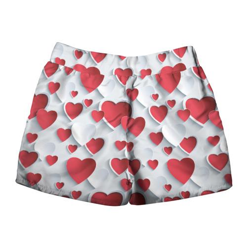 Женские шорты 3D  Фото 02, Сердца