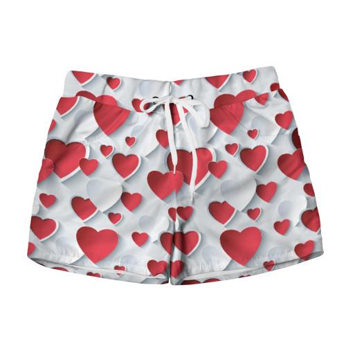 Женские шорты 3D  Фото 01, Сердца