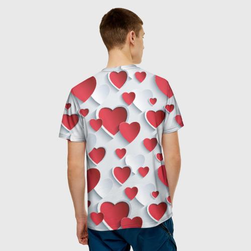 Мужская футболка 3D  Фото 02, Сердца