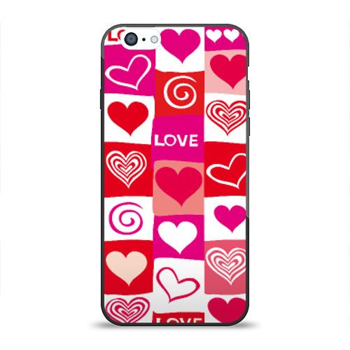 Чехол для Apple iPhone 6 силиконовый глянцевый Сердца от Всемайки