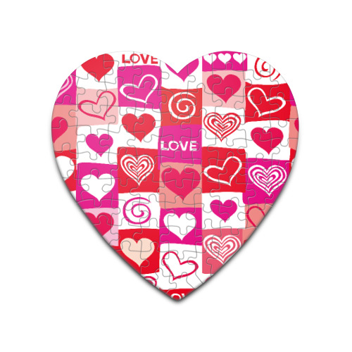 Пазл сердце 75 элементов  Фото 01, Сердца