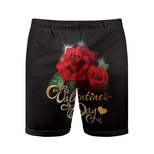 Мужские шорты 3D спортивные Valentine's Day