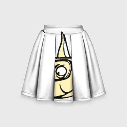 Детская юбка-солнце 3D Пёс в очках