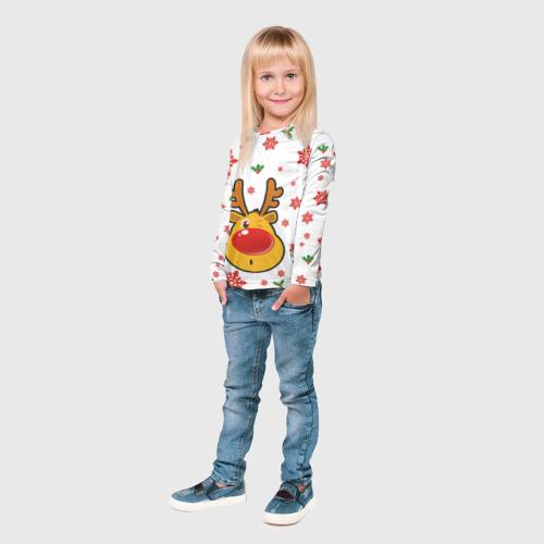 Детский лонгслив 3D  Фото 04, Олень подмигивает
