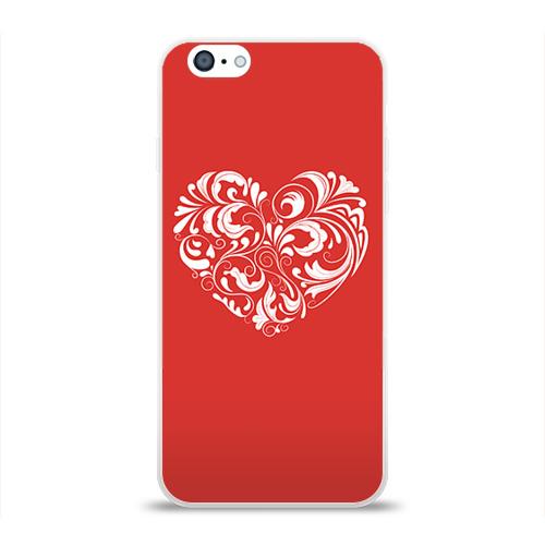 Чехол для Apple iPhone 6 силиконовый глянцевый  Фото 01, Сердце