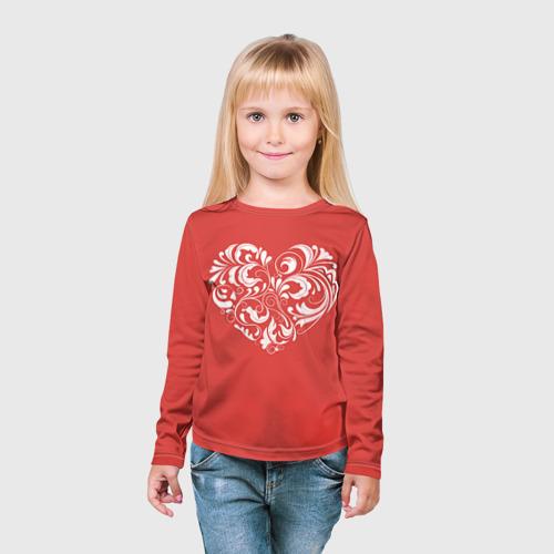 Детский лонгслив 3D  Фото 03, Сердце