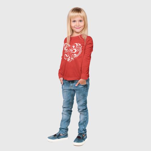 Детский лонгслив 3D  Фото 04, Сердце