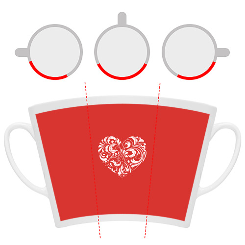 Кружка Латте  Фото 06, Сердце